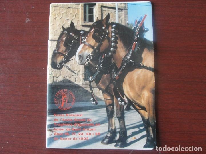 PROGRAMA GREMI DE TRAGINERS D´ IGUALADA 1993 - CAVALLS - PUBLICITAT (Coleccionismo - Folletos de Turismo)