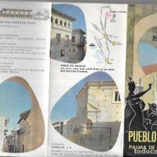 Folletos de turismo: FOLLETO TRÍPTICO AÑO 1966 * PUEBLO ESPAÑOL ,PALMA DE MALLORCA. Lote 180910338