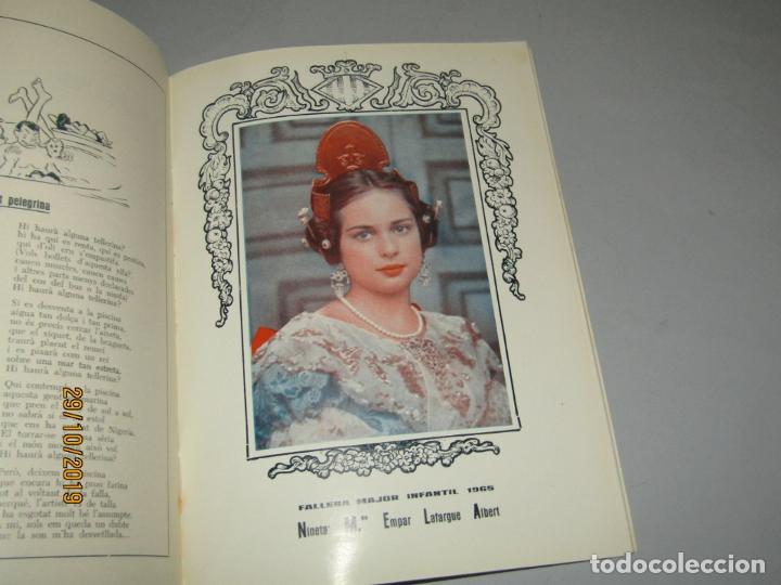 Folletos de turismo: Antiguo Llibret de Fallas de la Falla PLAÇA NA JORDANA del Año 1965 - Foto 2 - 181742148