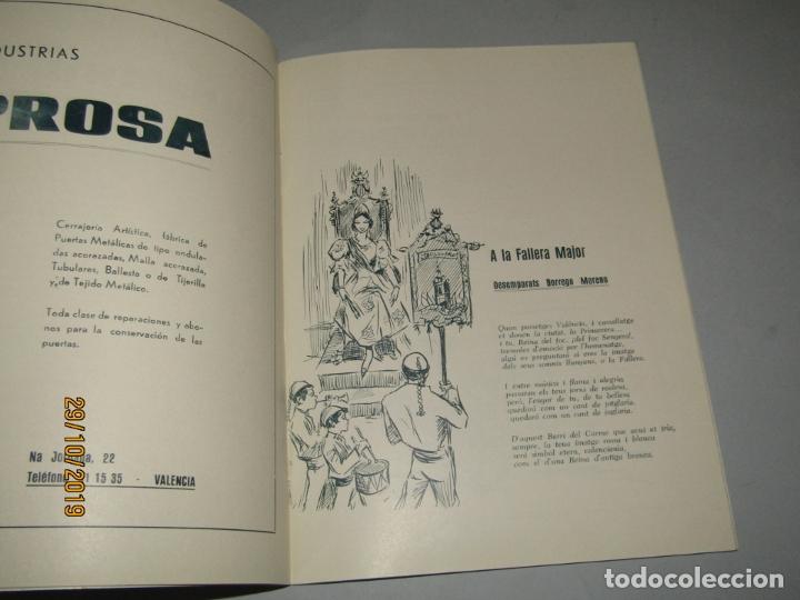 Folletos de turismo: Antiguo Llibret de Fallas de la Falla PLAÇA NA JORDANA del Año 1965 - Foto 4 - 181742148