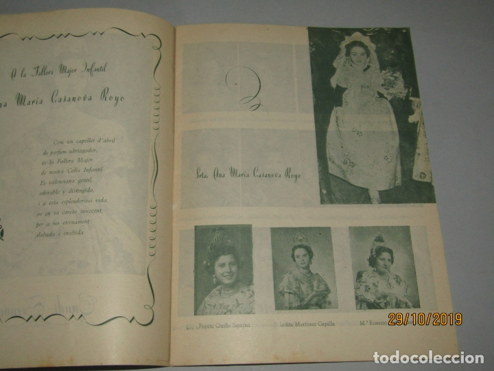 Folletos de turismo: Antiguo Llibret de Fallas de Falla Barques i Adjacents del Año 1956 - Foto 4 - 181872786