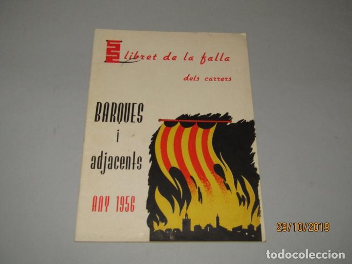 ANTIGUO LLIBRET DE FALLAS DE FALLA BARQUES I ADJACENTS DEL AÑO 1956 (Coleccionismo - Folletos de Turismo)