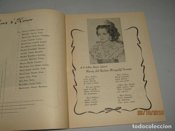 Folletos de turismo: Antiguo Llibret de Fallas de Falla Barques i Adjacents del Año 1960 - Foto 3 - 181873203