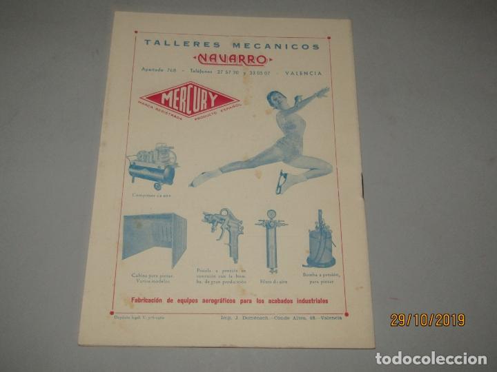 Folletos de turismo: Antiguo Llibret de Fallas de Falla Barques i Adjacents del Año 1960 - Foto 4 - 181873203