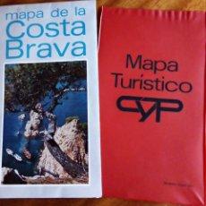 Folletos de turismo: COSTA BRAVA. MAPA TURÍSTICO CYP. AÑOS 70. Lote 182069346