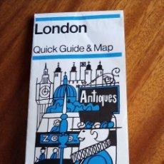 Folletos de turismo: LONDON. QUICK GUIDE & MAP. BTA 1.972. Lote 182069532