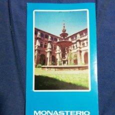Folletos de turismo: AÑOS 70. FOLLETO TURÍSTICO. MONASTERIO DE SAMOS. LUGO.. Lote 182652923