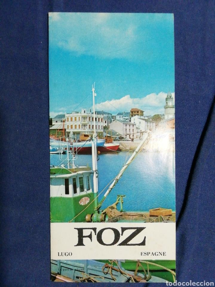 AÑOS 70. FOLLETO TURÍSTICO DE FOZ. LUGO. GALICIA (Coleccionismo - Folletos de Turismo)