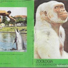 Folletos de turismo: ZOOLOGIA , DOCUMENTACIÓN GRÁFICA .,PORTADA COPITO DE NIEVE (FLOQUET DE NEU ) 1980. Lote 182833380