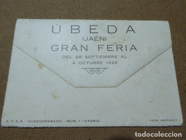 Folletos de turismo: ANTIGUO PROGRAMA DE FERIA DE UBEDA. 1926. ILUSTRADO. - Foto 9 - 183060982