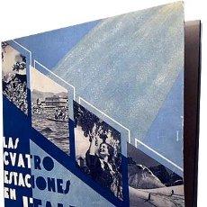 Folletos de turismo: LAS CUATRO ESTACIONES DE ITALIA (TURISMO, 1937. ENIT. ROMA. FOTOS BITONO. Lote 183085933