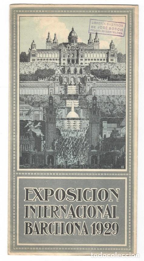 TRÍPTICO DE LA EXPOSICIÓN INTERNACIONAL BARCELONA 1929 (Coleccionismo - Folletos de Turismo)
