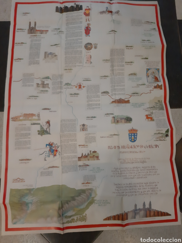 MAPA HISTORICO GALICIA LUGO (Coleccionismo - Folletos de Turismo)