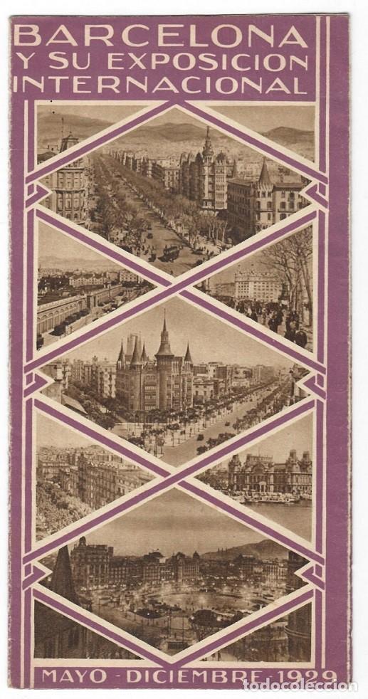 FOLLETO PUBLICITARIO / BARCELONA Y SU EXPOSICIÓN INTERNACIONAL 1929 - DIVERSOS ASPECTOS (Coleccionismo - Folletos de Turismo)