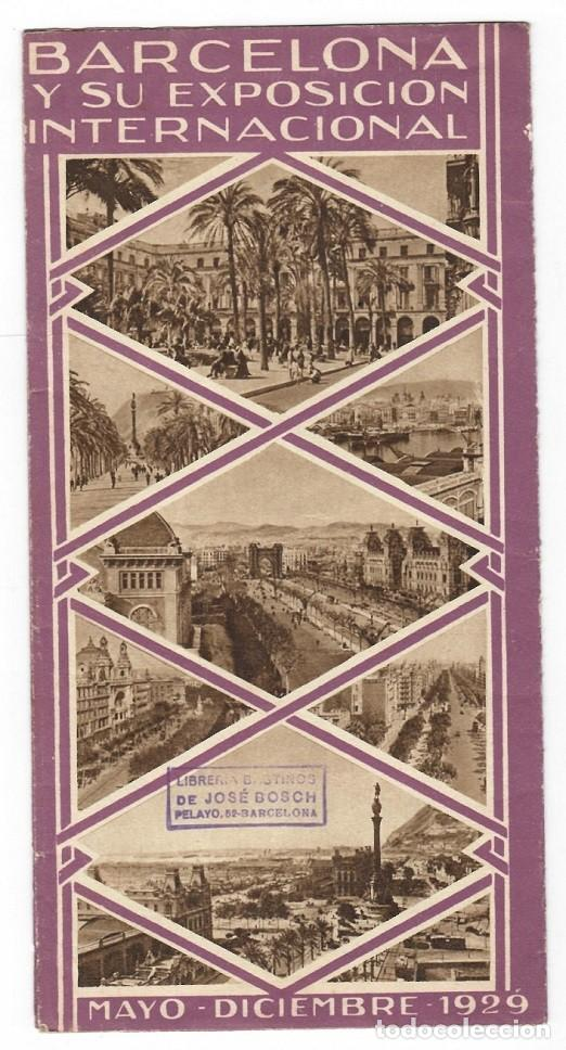 Folletos de turismo: Folleto publicitario / Barcelona y su Exposición Internacional 1929 - Diversos aspectos - Foto 2 - 183381543