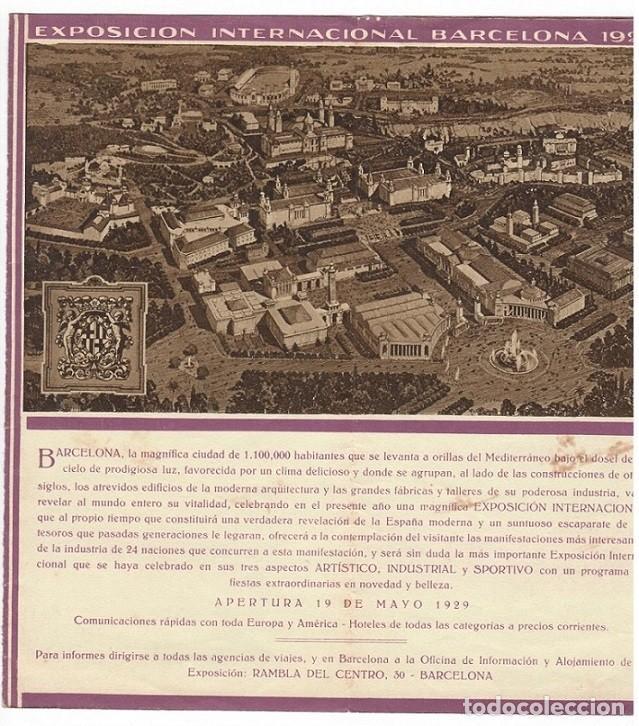 Folletos de turismo: Folleto publicitario / Barcelona y su Exposición Internacional 1929 - Diversos aspectos - Foto 3 - 183381543