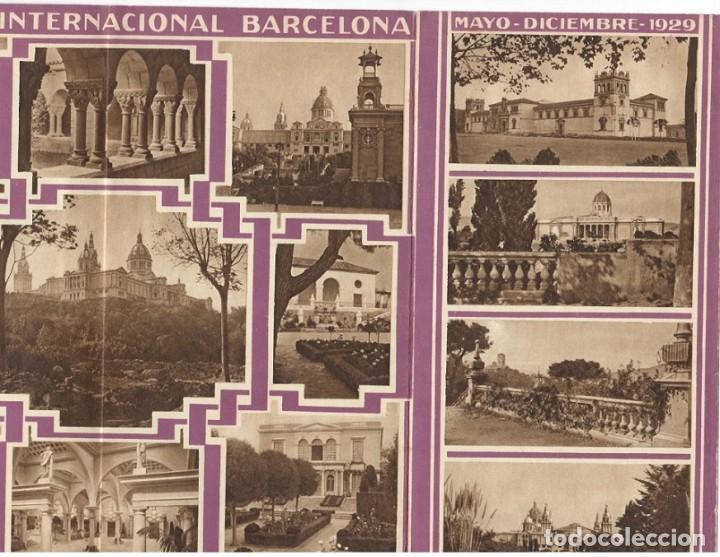 Folletos de turismo: Folleto publicitario / Barcelona y su Exposición Internacional 1929 - Diversos aspectos - Foto 4 - 183381543
