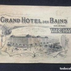 Folletos de turismo: ANTIGUO FOLLETO TURISTICO SOBRE VICHY - GRAND HOTEL DES BAINS - 21X13,5 M - 12 PAGINAS. Lote 183502277