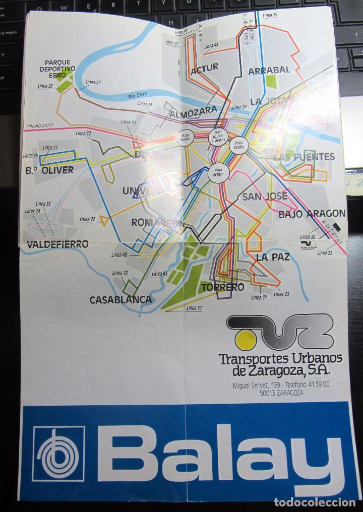 Folletos de turismo: FOLLETO GUIA TUZSA AUTOBUSES URBANOS DE ZARAGOZA CONTIENE MAPA DE LINEAS BUS 1988 - Foto 2 - 183502700