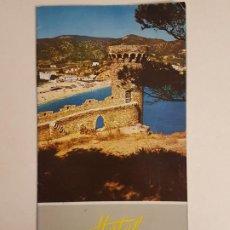 Folletos de turismo: TOSSA DE MAR GERONA CATALUÑA FOLLETP TURISTICO ED. HOTEL ANCORA . Lote 183673575