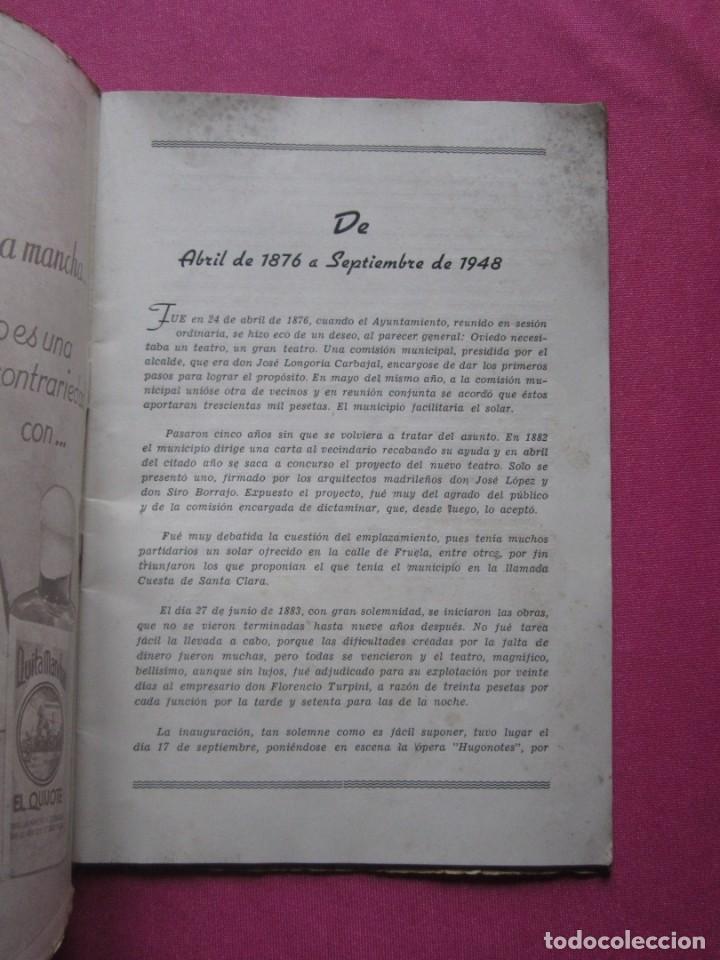 Folletos de turismo: INAGURACIOS DEL TEATRO CAMPOAMOR DE OVIEDO PROGRAMA AÑO 1948 - Foto 5 - 183673687