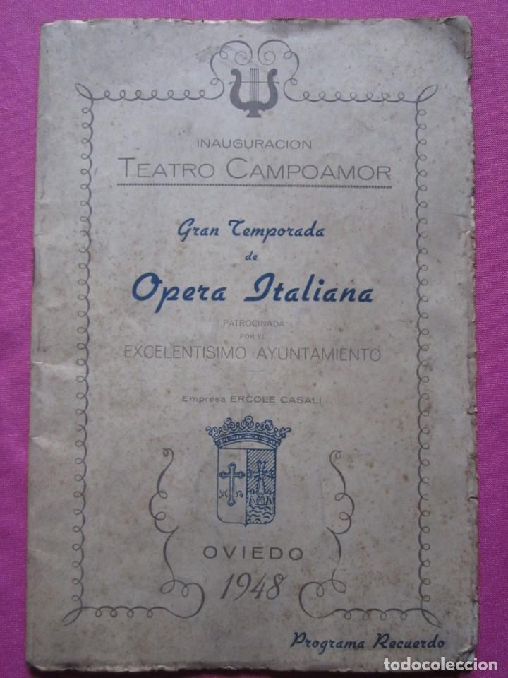 Folletos de turismo: INAGURACIOS DEL TEATRO CAMPOAMOR DE OVIEDO PROGRAMA AÑO 1948 - Foto 6 - 183673687