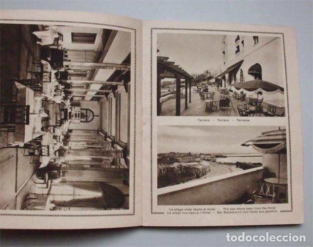 Folletos de turismo: Antiguo folleto turístico y publicitario del Hotel Atlántico. Cádiz. Años 30 - Foto 3 - 183736978