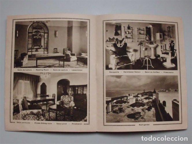 Folletos de turismo: Antiguo folleto turístico y publicitario del Hotel Atlántico. Cádiz. Años 30 - Foto 4 - 183736978