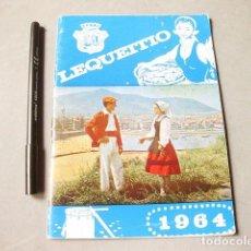 Folletos de turismo: PROGRAMA DE FIESTAS PATRONALES DE SAN ANTOLÍN DE LEQUEITIO. 1964. Lote 183829058