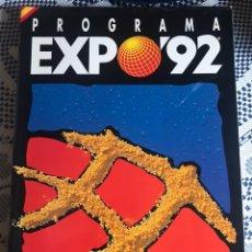 Folletos de turismo: PROGRAMA EXPO´92 EXPOSICIÓN UNIVERSAL SEVILLA 1992. 194 PAGINAS. Lote 184160556