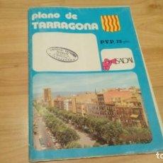 Folletos de turismo: PLANO CIUDAD TARRAGONA VINTAGE. Lote 184287490