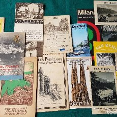 Folletos de turismo: LOTE DE 16 ANTIGUOS FOLLETOS DE TURISMO. Lote 184349746