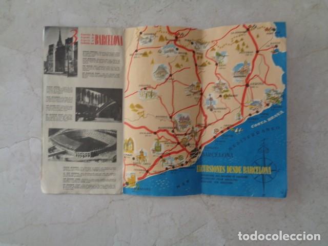 Folletos de turismo: BARCELONA. VIAJES MARSANS. PLANO TURÍSTICO DESPLEGABLE DE BARCELONA. 1958 - Foto 2 - 184437968