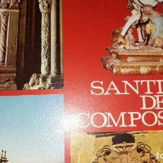 Folletos de turismo: FOLLETO PUBLICIDAD CATÁLOGO TURÍSTICO SANTIAGO DE COMPOSTELA EN FRANCÉS MONUMENTOS CALLEJERO PLANO. Lote 184857872