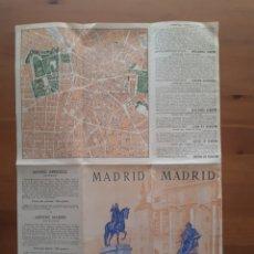 Folletos de turismo: ANTIGUO DESPLEGABLE PLANO MADRID. Lote 184860380