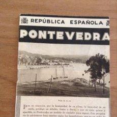 Folletos de turismo: PONTEVEDRA, PATRONATO NACIONAL DEL TURISMO, FOLLETOS TURISTICOS. Lote 184961285