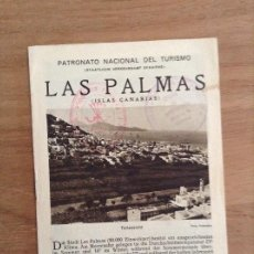 Folhetos de turismo: LAS PALMAS, PATRONATO NACIONAL DEL TURISMO, FOLLETO TURISTICO. Lote 185072537