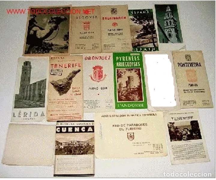 14 ANTIGUOS FOLLETOS DE TURISMO DE ESPAÑA - AÑOS 30-40 - ENTRE OTROS LOS DE GRAN CANARIA - SEGOVIA - (Coleccionismo - Folletos de Turismo)