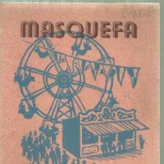 Folletos de turismo: 1576.- MASQUEFA PROGRAMA FIESTA MAYOR 1949. Lote 186387388