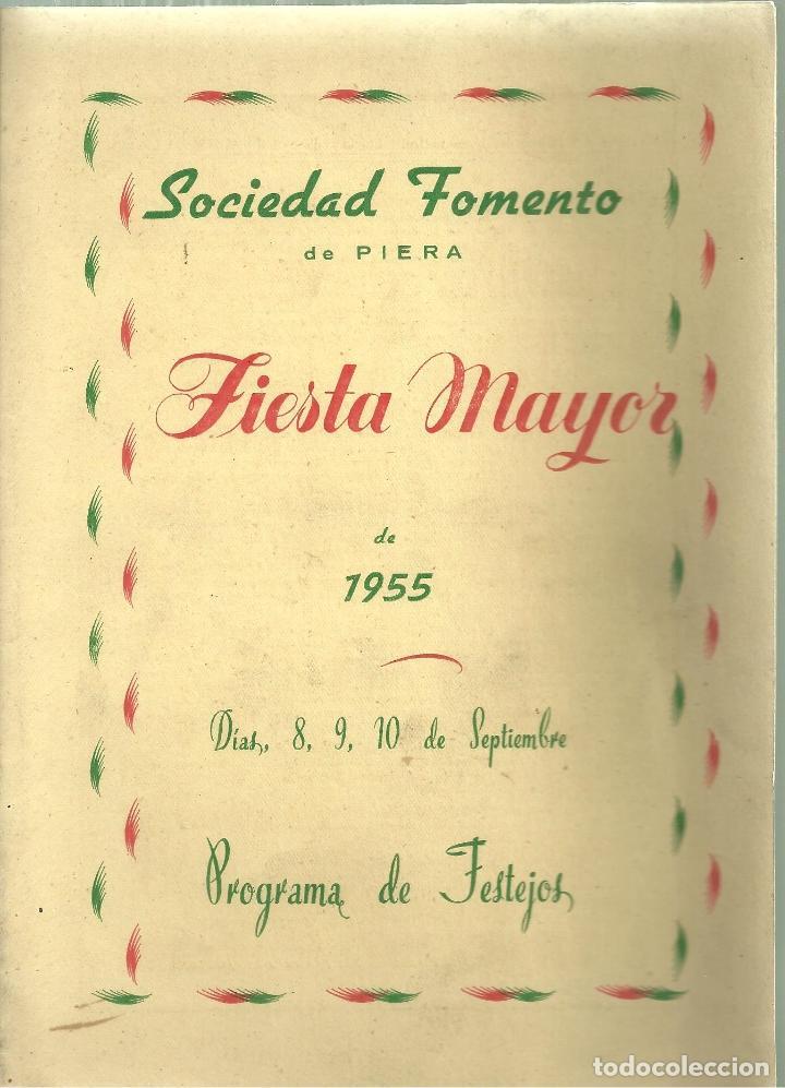 1576.- PIERA - ANOIA - PROGRAMA DE FIESTA MAYOR DE LA VILLA DE PIERA - SOCIEDAD FOMENTO DE PIERA (Coleccionismo - Folletos de Turismo)