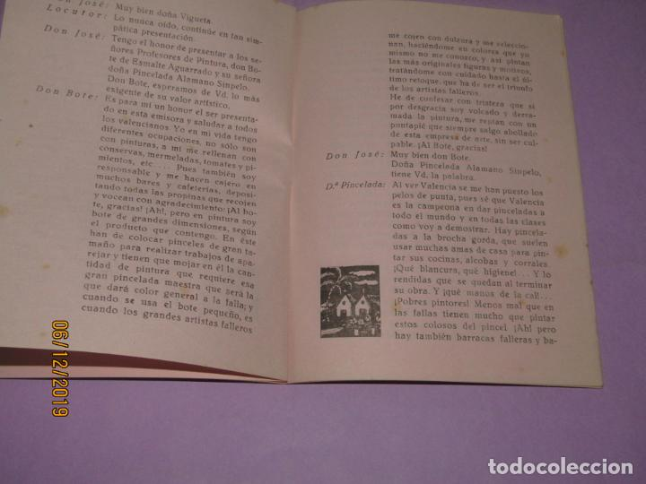 Folletos de turismo: ESPAÑA FALLERA Guión Radiofónico Escenificable en Prosa y Verso - Valencia 1960 - Foto 2 - 186415938
