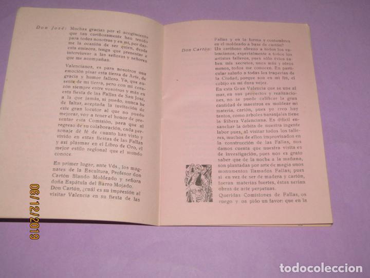 Folletos de turismo: ESPAÑA FALLERA Guión Radiofónico Escenificable en Prosa y Verso - Valencia 1960 - Foto 3 - 186415938
