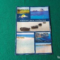 Folletos de turismo: FOLLETO ISLAS BALEARES - ILLES BALEARS (AÑOS 80). Lote 186430307