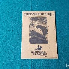 Folletos de turismo: FOLLETO DE TURISMO ECUESTRE (1987) GREDOS, GUADARRAMA, YUSTE, EL ESCORIAL.... Lote 186433335