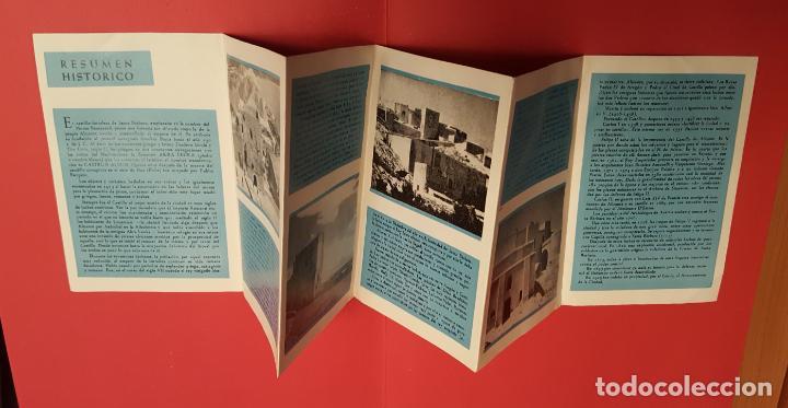 Folletos de turismo: PLANO turístico CASTILLO SANTA BÁRBARA (Alicante, 1963). Desplegable. COLECCIONISTA. Original - Foto 2 - 186457593