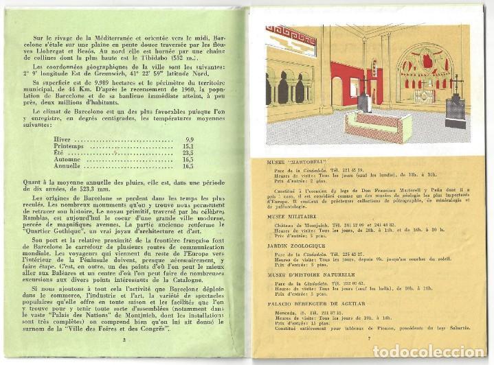 Folletos de turismo: PLANO GUÍA DESPLEGABLE DE BARCELONA- 1965 (EN FRANCÉS) - Foto 3 - 187324300