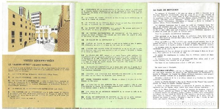 Folletos de turismo: PLANO GUÍA DESPLEGABLE DE BARCELONA- 1965 (EN FRANCÉS) - Foto 8 - 187324300