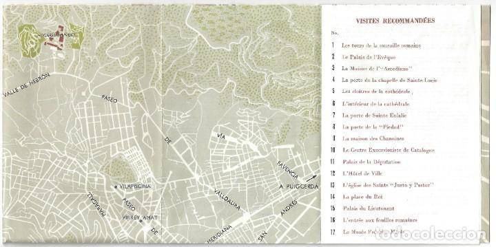 Folletos de turismo: PLANO GUÍA DESPLEGABLE DE BARCELONA- 1965 (EN FRANCÉS) - Foto 10 - 187324300