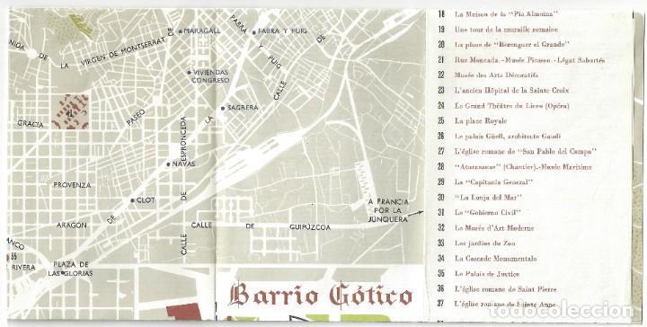 Folletos de turismo: PLANO GUÍA DESPLEGABLE DE BARCELONA- 1965 (EN FRANCÉS) - Foto 11 - 187324300