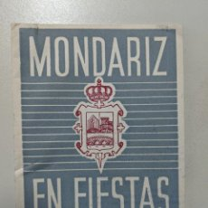 Folletos de turismo: 1959 - REVISTA MONDARIZ EN FIESTAS - PONTEVEDRA - GALICIA - TALLERES FARO DE VIGO. Lote 188489576